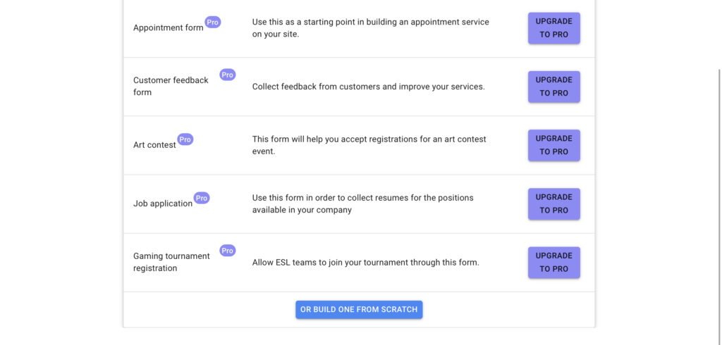 Wordpress-form-templates-Likert-scale