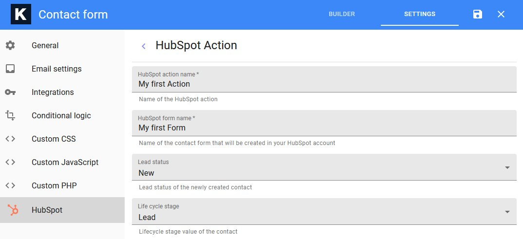 HubSpot Basic Action Details