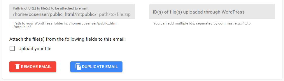 Select upload field