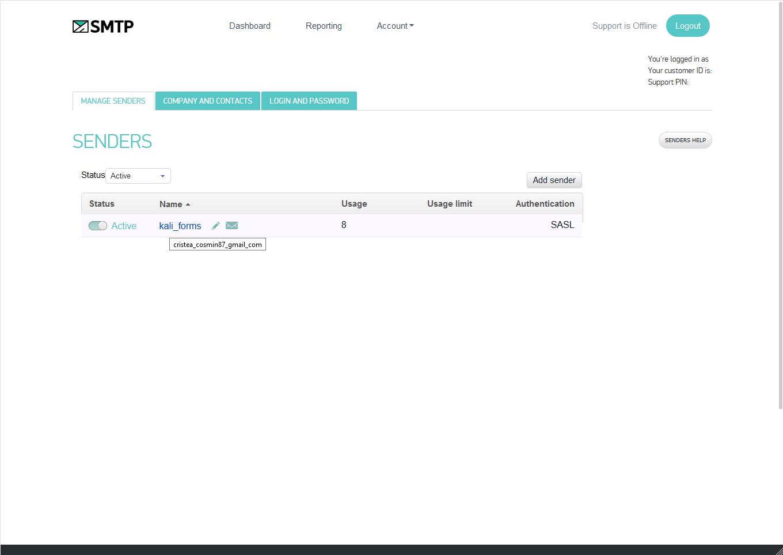 SMTP.com Sender