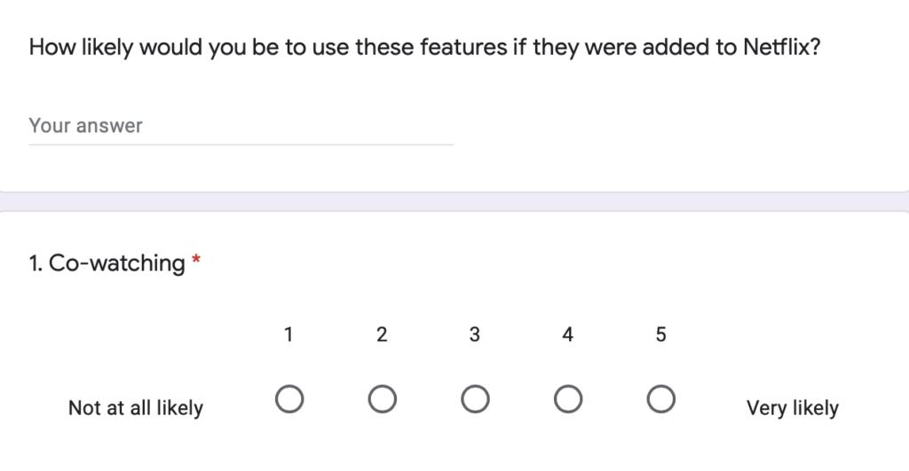 netflix customer survey example